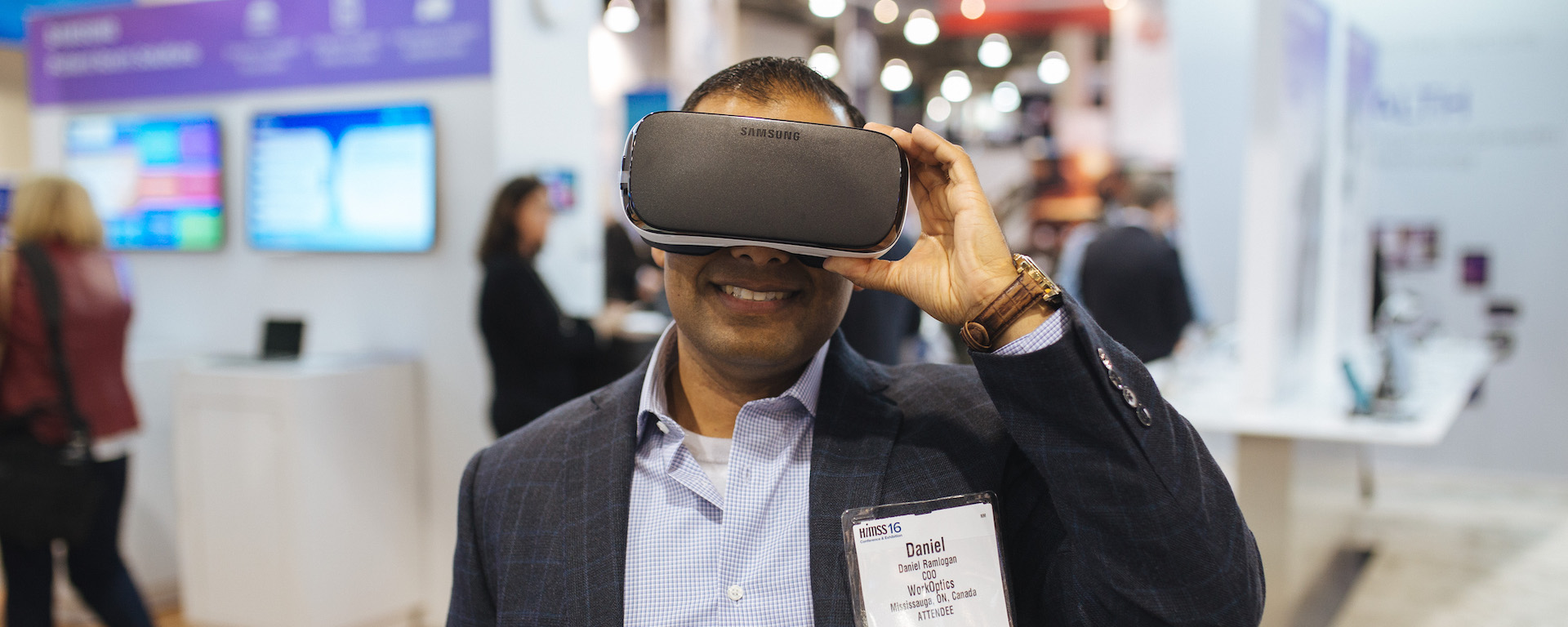 Samsung Gear VR at HIMSS