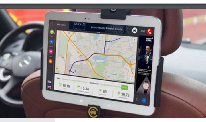 Cabture uses Samsung tablets to enhance the travel experience for taxi riders.