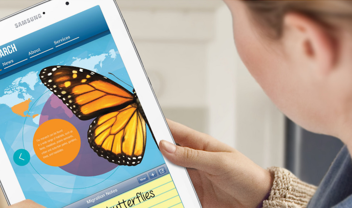 Tablets in the classroom can be used to support differentiated instruction.