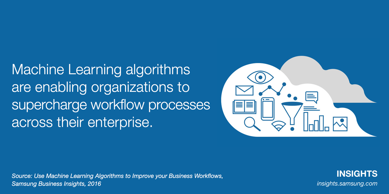 Machine learning algorithms are enabling organizations to supercharge workflow processes across their enterprise.