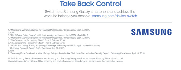 Switch to a samsung galaxy smartphone and achieve the work-life balance you deserve.