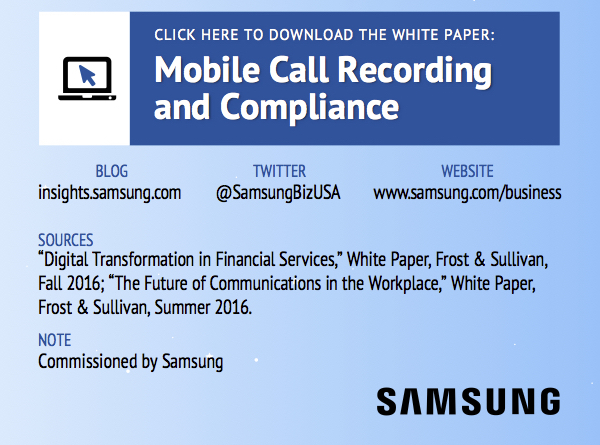 Mobile Call Recording and Compliance: Download the Whitepaper